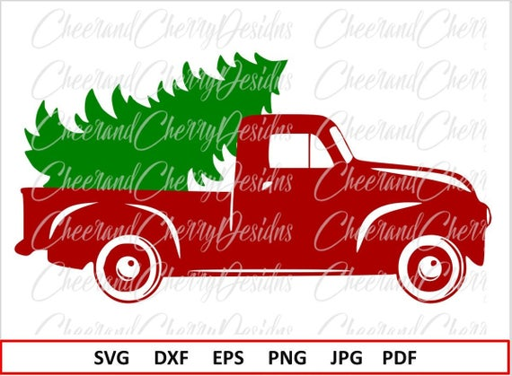 Christmas truck Svg Christmas SVG file Silhouette Christmas tree SVG for  Cricut Red truck Svg Christmas truck with tree Svg Vinyl Clipart.