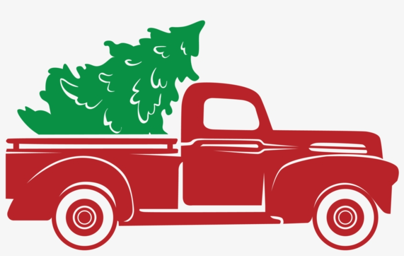 Red Truck Christmas Tree *stencil Only*.