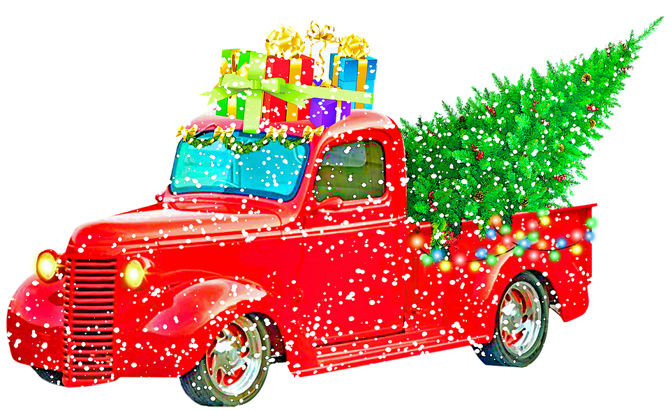 Christmas Pick Up Truck.