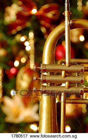 Trumpet at Christmas time Picture.