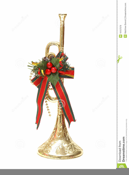 Christmas Trumpet Clipart.