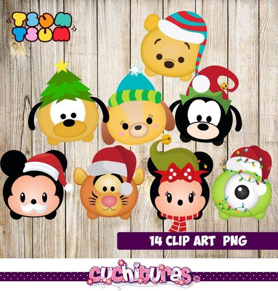 Disney Christmas Tsum Tsum Characters, Disney Christmas Tsum.