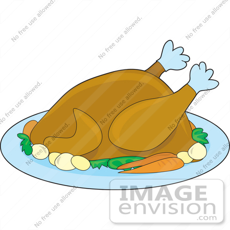 Clipart Of Carrots And Potatoes On A Platter With A Thanksgiving.
