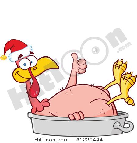 Christmas Turkey Clipart #1.