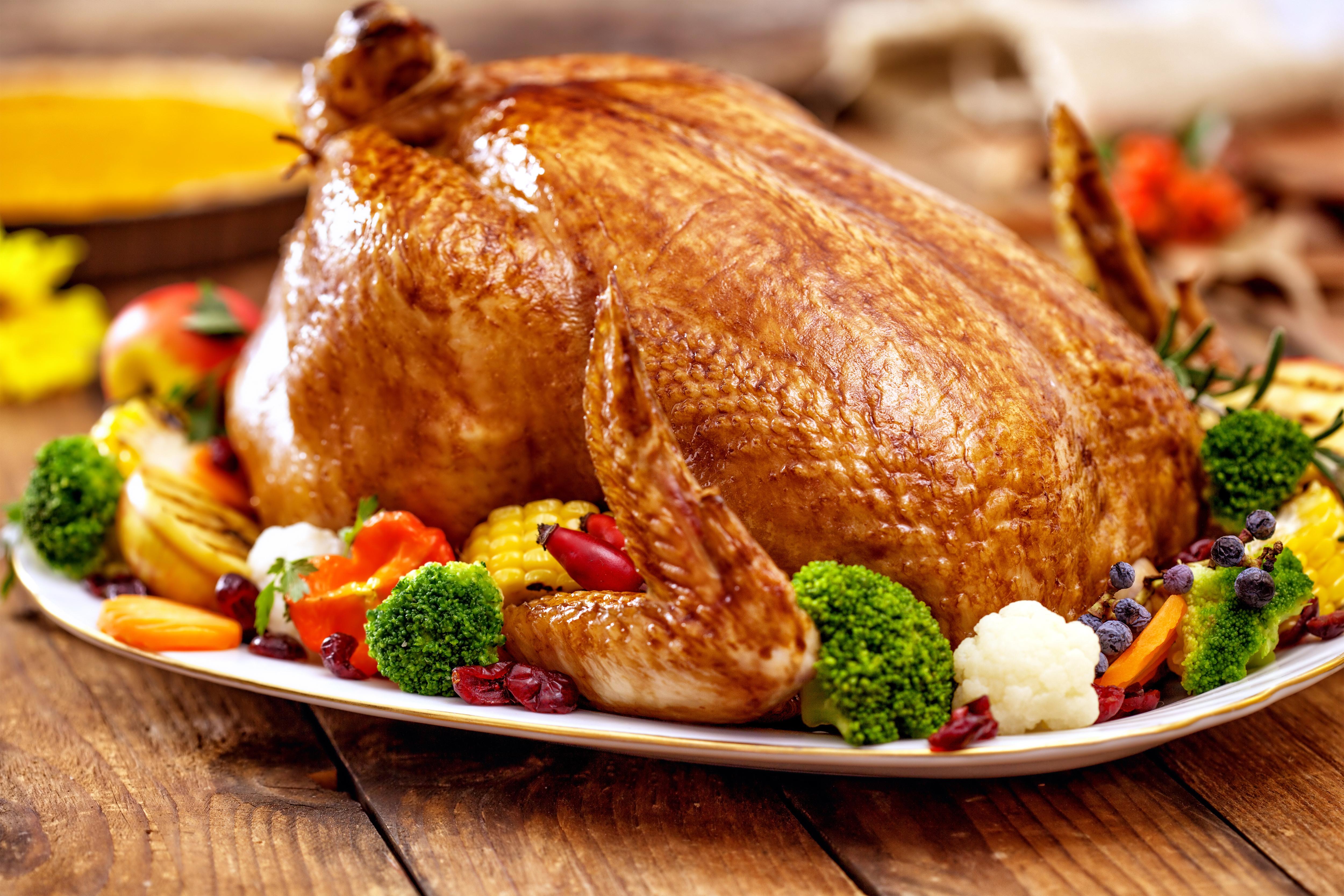 Christmas Turkey Large Background.