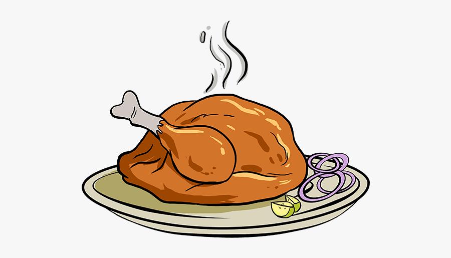 How To Draw Turkey Dinner.