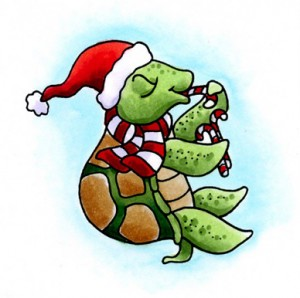 Christmas Turtle Clipart.