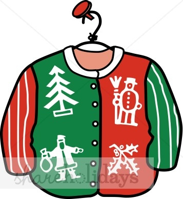 Ugly Sweater Christmas Clipart.