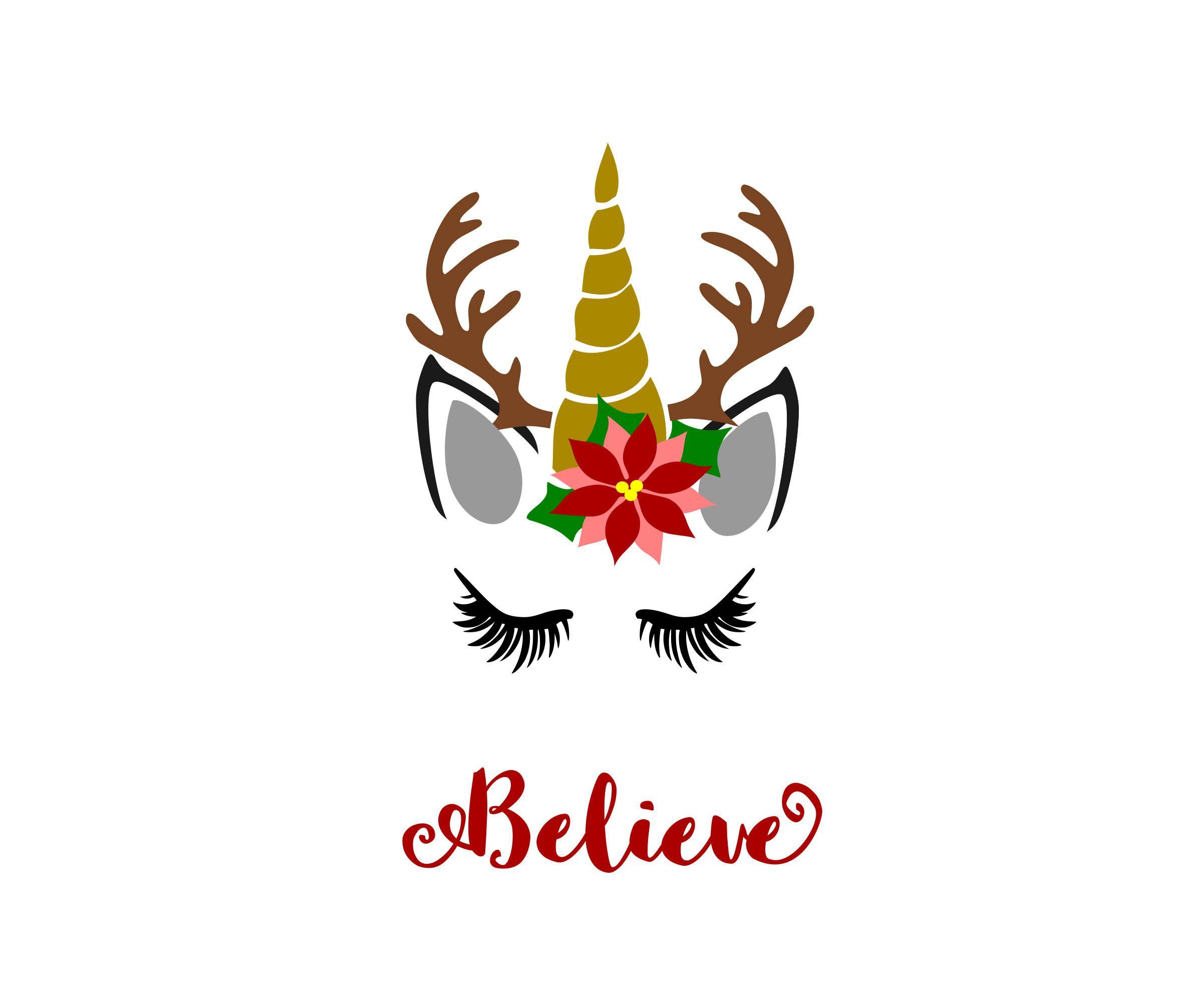 Unicorn Reindeer svg, Reindeer svg, Christmas unicorn svg, Christmas.