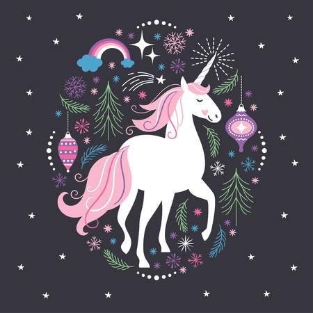 443 Christmas Unicorn Stock Vector Illustration And Royalty Free.