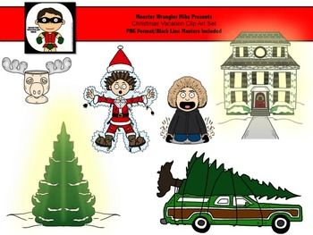 Christmas Vacation Clip Art Set Freebie.