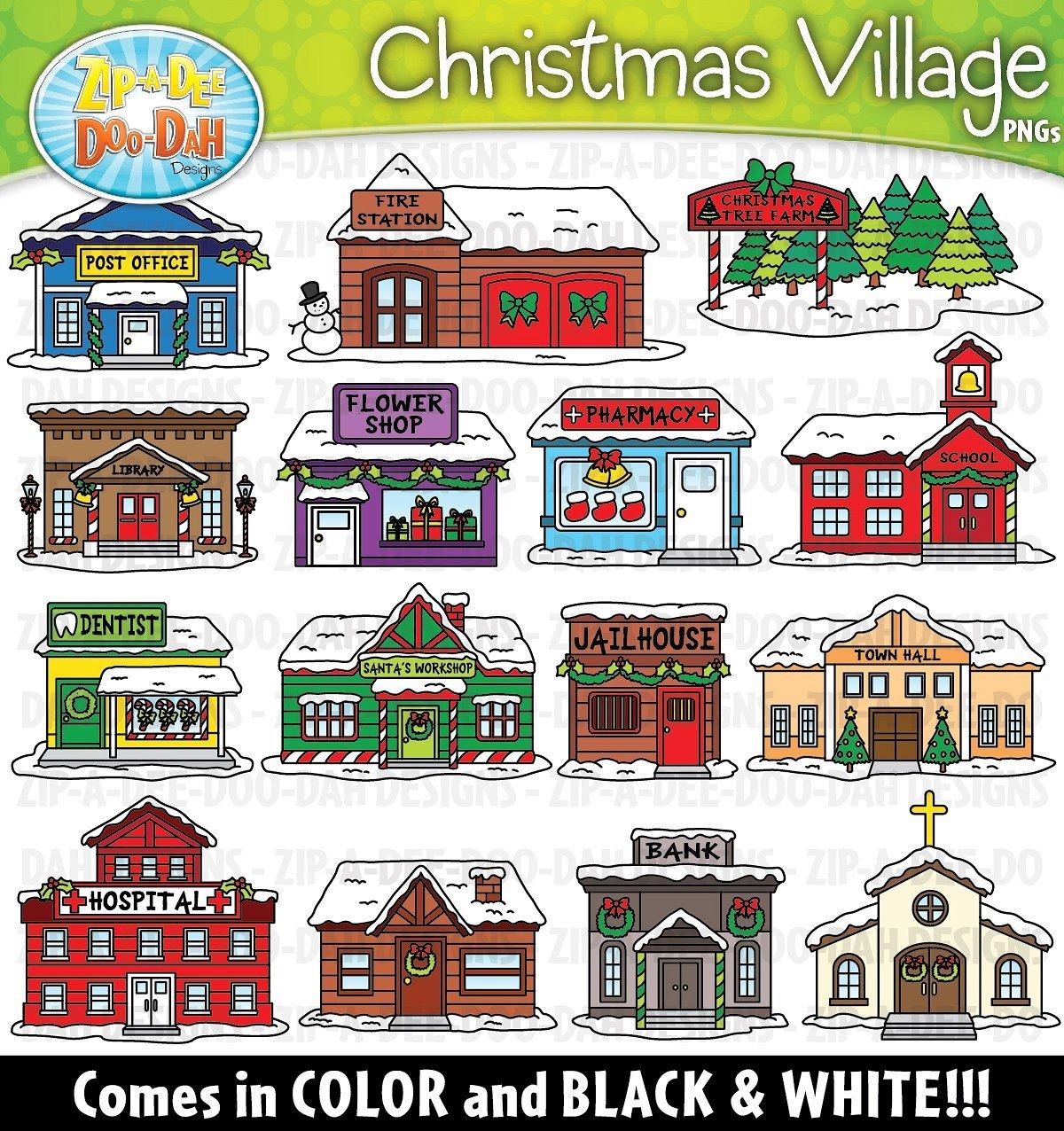 Christmas village clipart 5 » Clipart Portal.