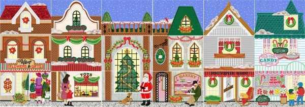 Christmas Village Clipart.