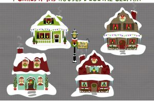 Christmas village clipart 3 » Clipart Station.
