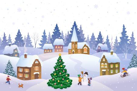 10,663 Christmas Village Stock Illustrations, Cliparts And Royalty.