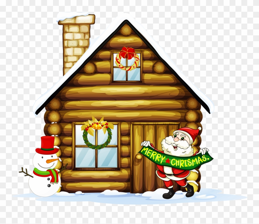Christmas Village Houses Clipart.