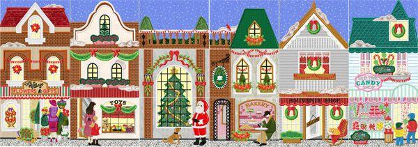 Christmas Village Shops.