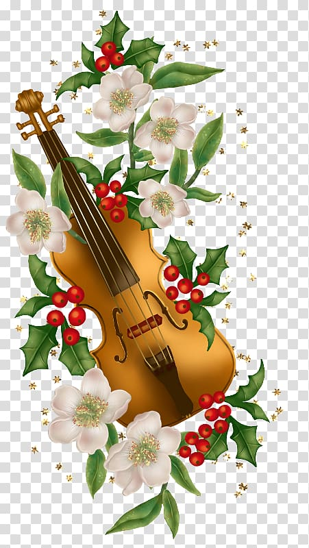 Violin Christmas card Musical instrument, A violin.
