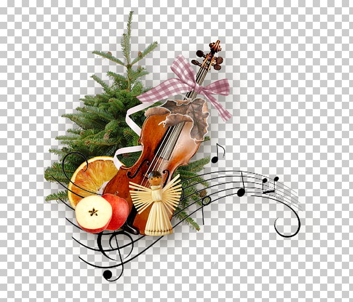 Christmas Musical note Violin , christmas PNG clipart.