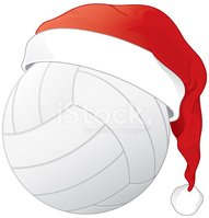 Volleyball clipart christmas, Volleyball christmas.