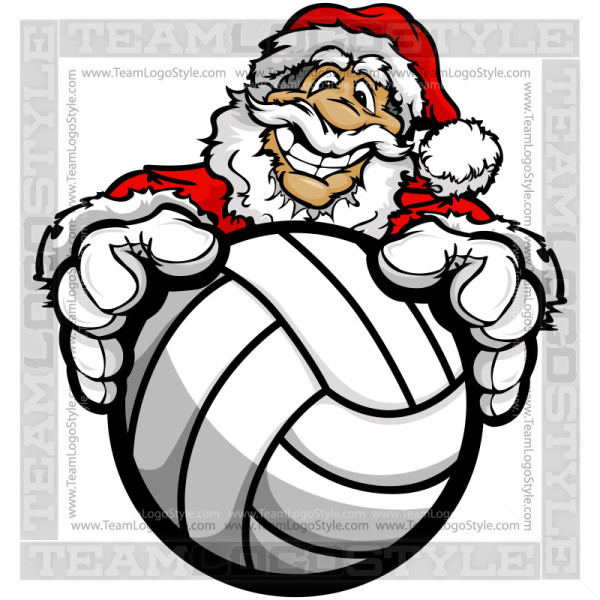 Christmas Volleyball Clipart.
