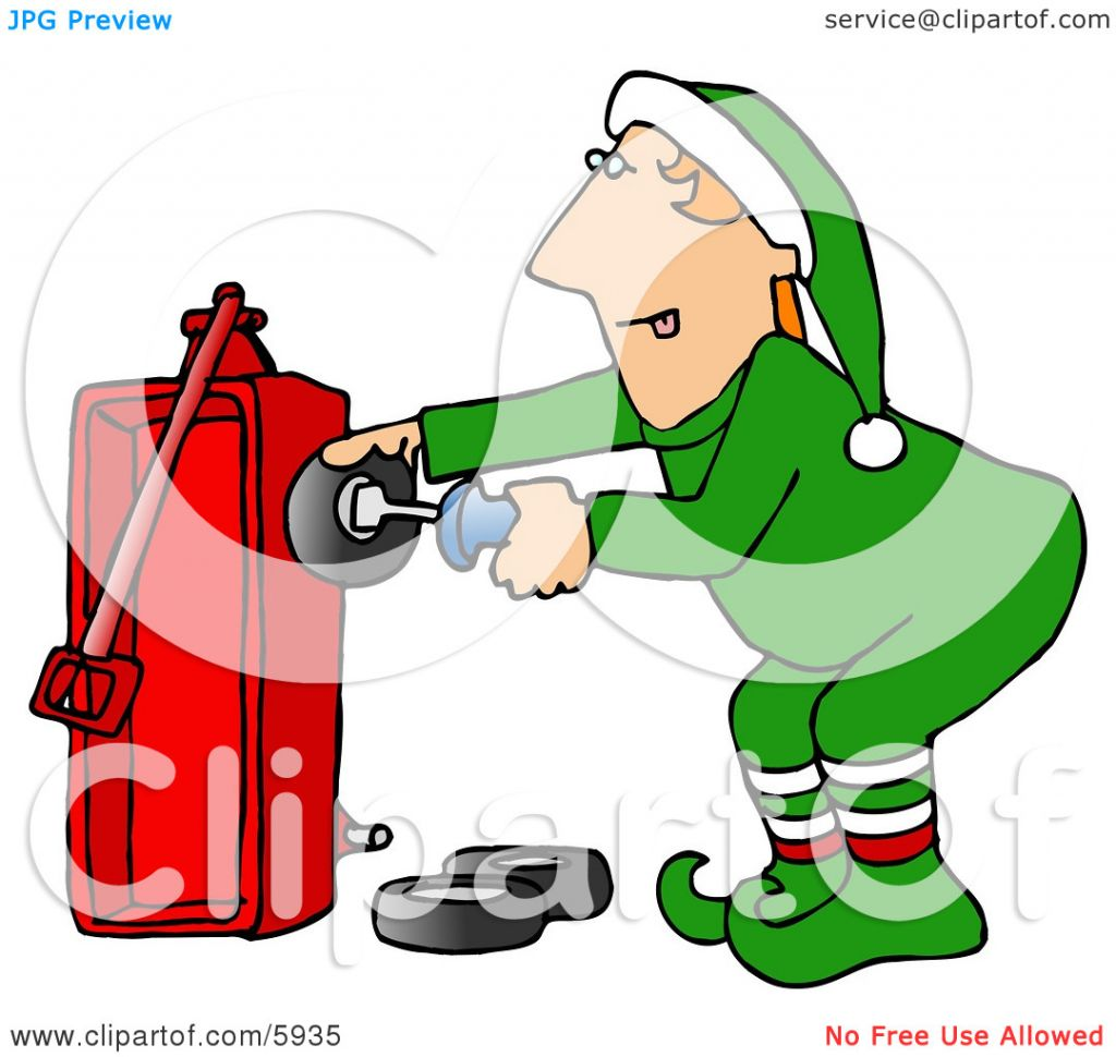 Toy Wagon Christmas Clipart.
