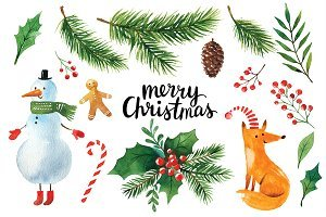 Christmas watercolor clipart 2 » Clipart Portal.