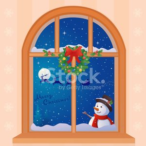 Christmas Window premium clipart.