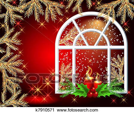 Christmas window Clipart.