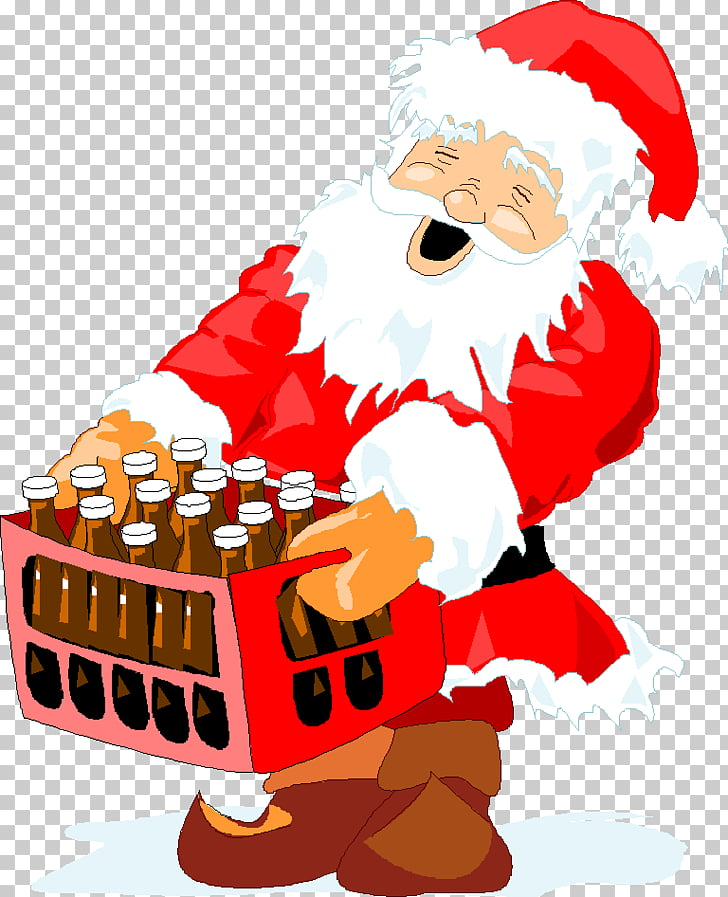Santa Claus Beer Christmas Wine , claus PNG clipart.