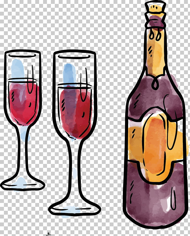 Red Wine Computer file, Christmas Wine PNG clipart.