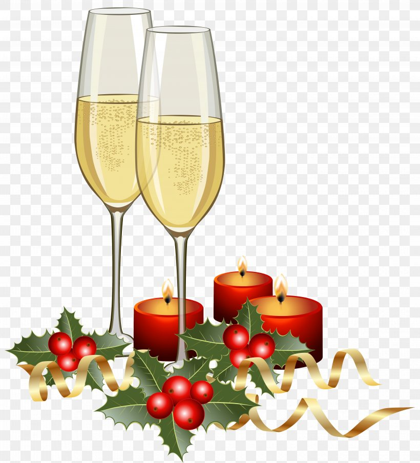 Champagne Christmas Clip Art, PNG, 5603x6181px, Champagne.