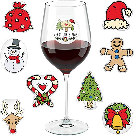 Christmas Wine Glass Drink Markers.