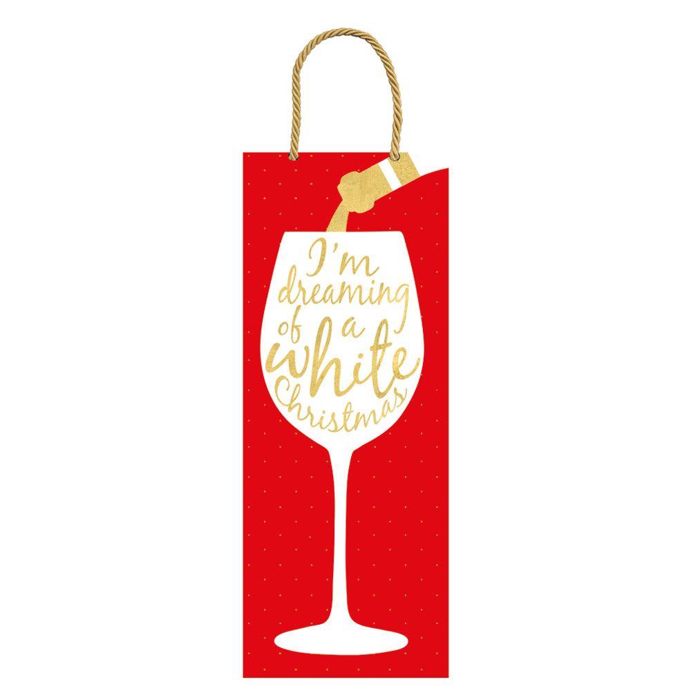 Wine Christmas Wine & Bottle Gift Bag.
