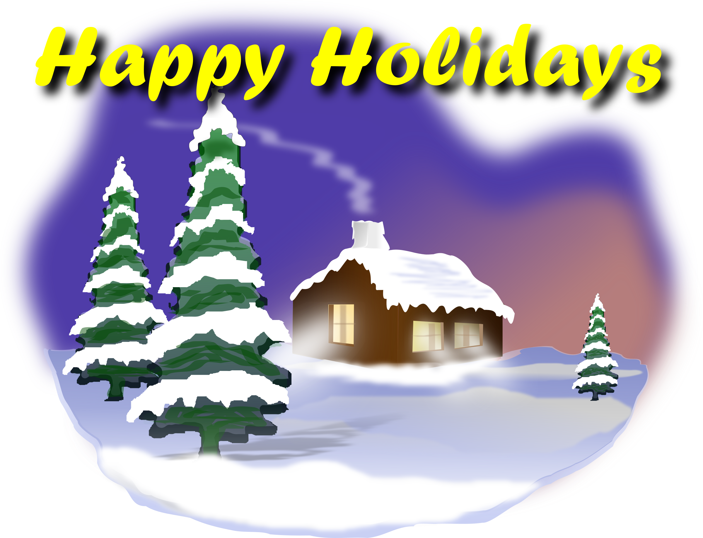 HD Happy Holidays Clip Arts.