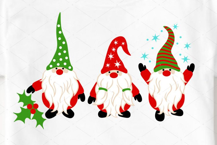 Christmas Gnomes svg Winter Snow Holidays clipart Cricut png.