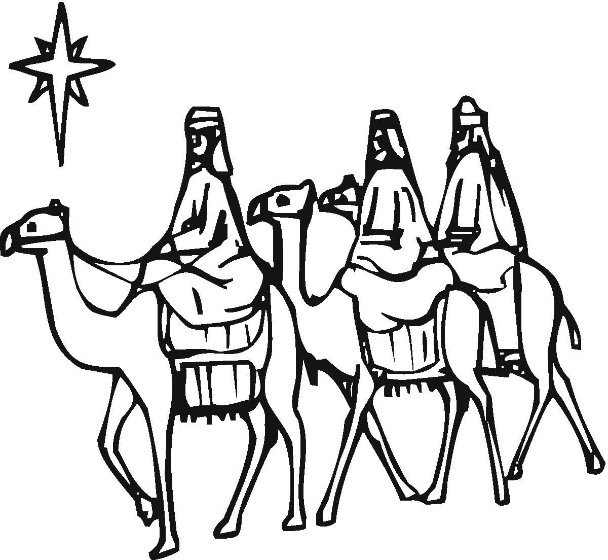 Christmas Wise Men Clipart.