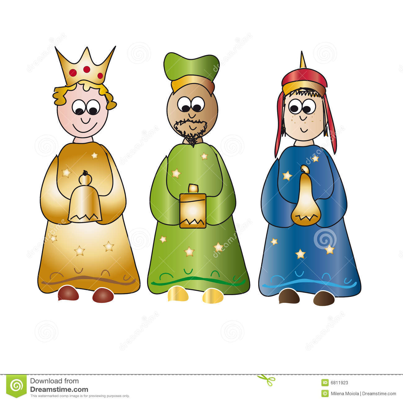 Three Kings Or Wise Men Clipart Of Color To.