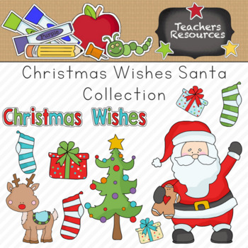 Christmas Wishes Santa Clipart Collection.