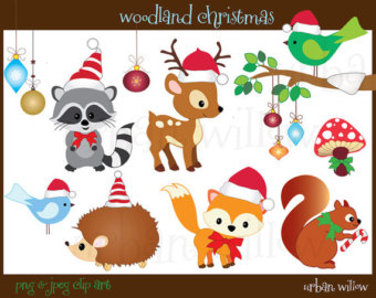 Christmas Woodland Clipart.