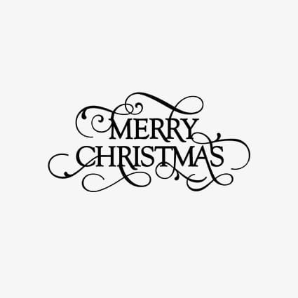 Merry christmas in english wordart PNG clipart.