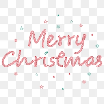 Christmas Wordart PNG Images.