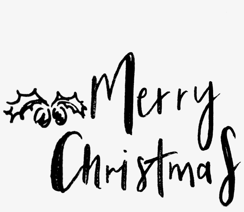 Merry Christmas Word Art Png Download.