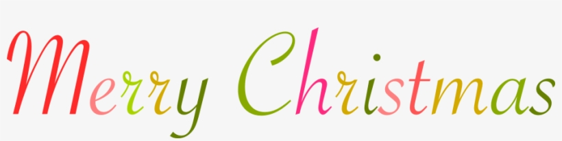 Merry Christmas Word Art Png.