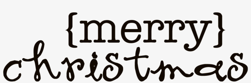 Merry Christmas Word Art Transparent.