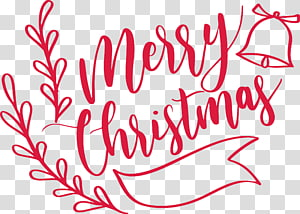Christmas Art Words transparent background PNG cliparts free.