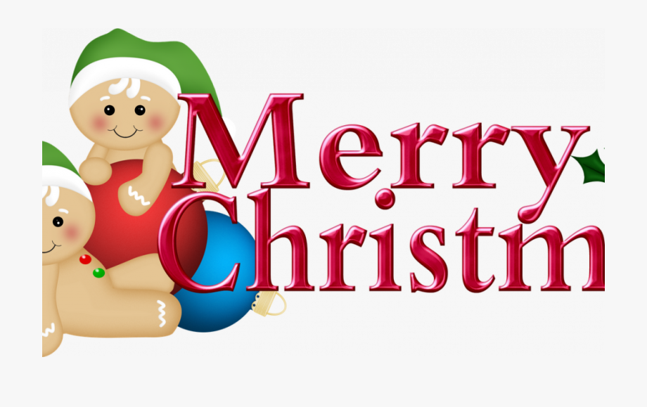 Merry Christmas Word Decoration With Clip Art Free #1704566.