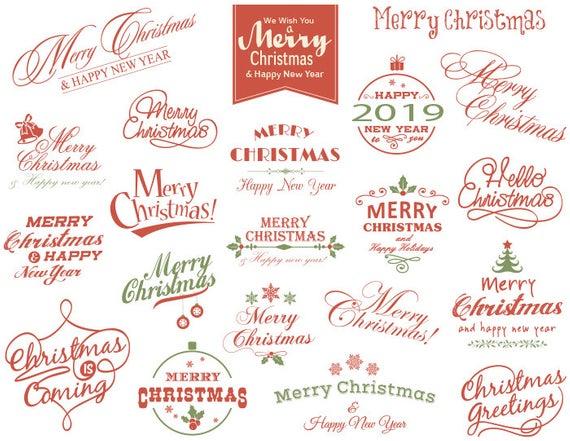 Instant Download Merry Christmas Clipart Christmas Scrapbook Decor  Christmas Digital Photo Overlay Christmas Wording Clip Art 0359.
