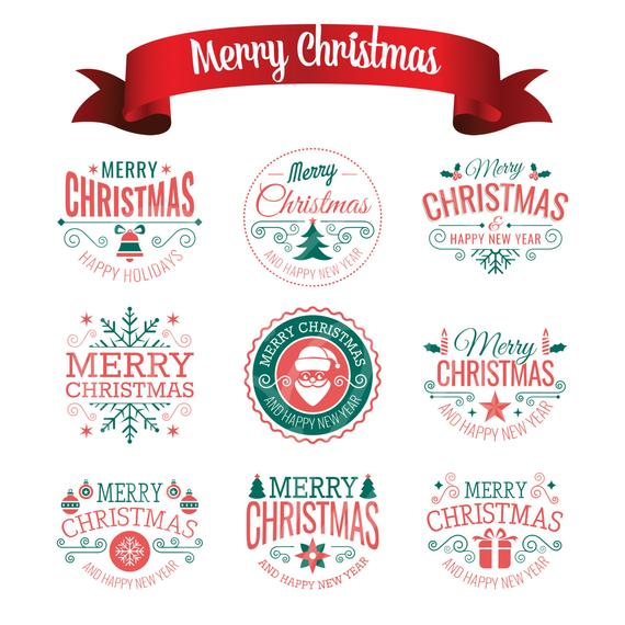 Merry Christmas Scrapbook Decor Christmas Wording Clip Art Digital Clipart  Invitation Greetings Instant Download PNG Commercial Use.
