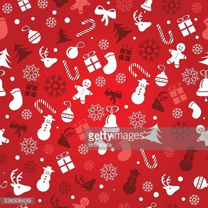 Christmas Background, Seamless Tiling, Great Choice for Wrapping.